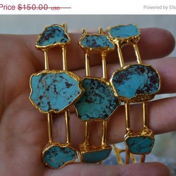 ON SALE NOVA /// Turquoise Cuff Bracelet