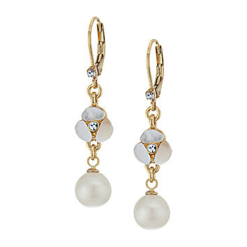 Kate Spade New York Disco Pansy Drop Leverback Earrings