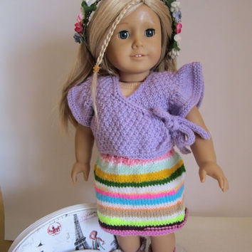 ON SALE - 10% OFF Knitted American girl doll set-...our generation 18 inches doll... boutique