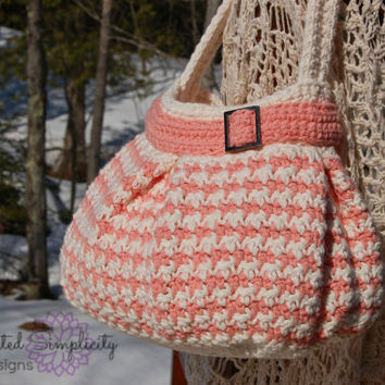 Crochet Pattern: Houndstooth Handbag / Purse, Permission to Sell Finished Items