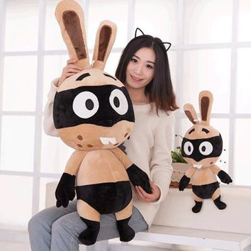 55 CM Adventure Rayman Raving Rabbids Stuffed Animals Bunny Pillow Kids Gifts Toy Stuffed Bunny Comfortable Dolls For Children
