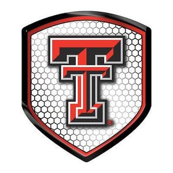 Texas Tech Red Raiders SHIELD Reflector Emblem Decal Auto Home University of