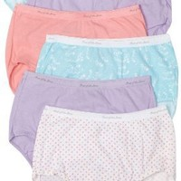 Fruit of the Loom Women`s 6-Pack Cotton Wardrobe Briefs $10.00