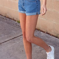 John Galt Raw Hem Denim Shorts at PacSun.com