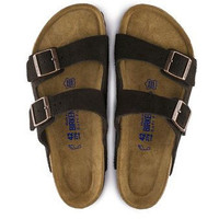 Birkenstock Arizona Soft Footbed Suede Sandal- Mocha