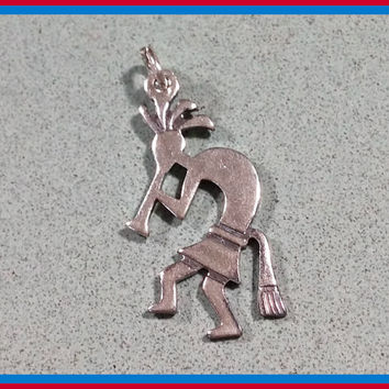Sterling Silver Charm Kokopelli Dancer Southwest Southwestern Depicting Traditional Native American Indian Spiritual Representation