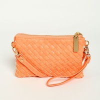 Wicker Pattern Crossbody Bag