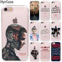 HryCase Matte Hard Plastic TV Stranger Things Pattern Case For Apple iPhone 8 X 6 6S 7 Plus X 5 5S SE Transparent Phone Cover