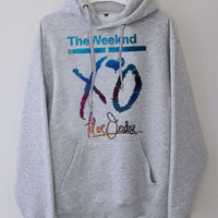 XO The Weeknd Drake YMCMB Galaxy Nebula gray hoodie for men and women