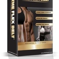 The flex belt. Ab Belt Workout – Firm and Strengthen the Abdominal Muscles - Unisex