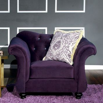 Chesterfield Inspired Design Chair Purple