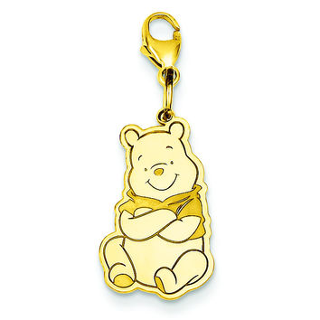 Gold-plated SS Disney Winnie the Pooh Lobster Clasp Charm WD181GP