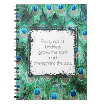 Inspirational Quote On Kindness Spirit And Soul Spiral Notebook