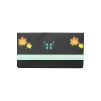 Autumn Butterfly Checkbook Cover