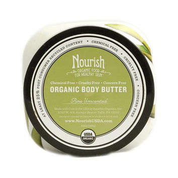 Nourish Organic Body Butter Pure Unscented - 3.6 Oz