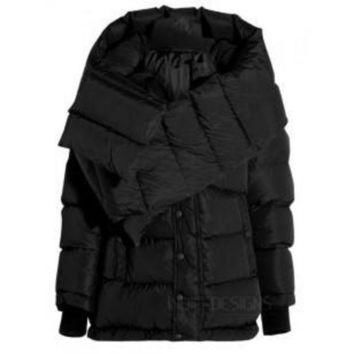 ONETOW indie designs balenciaga inspired swing doudoune oversized quilted shell hooded