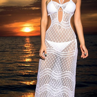 Crochet Net Beach Dress