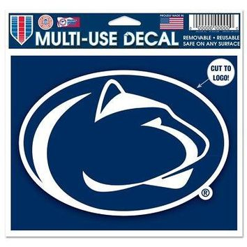 "Licensed Penn State Nittany Lions NCAA 4.5""x5.75"" MultiUse Car Decal Wincraft 351395 KO_19_1"