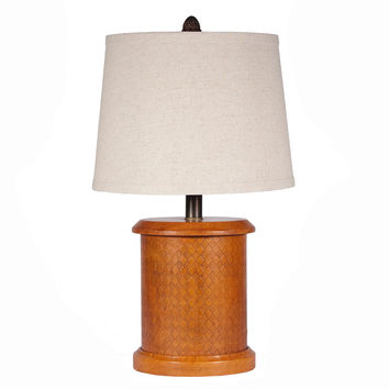Woven Leather Caddy Lamp