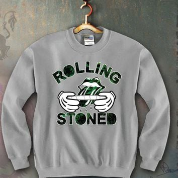 Rolling Stones Leafs Unisex Crewneck Funny and Music