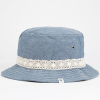 Chambray Crochet Trim Womens Bucket Hat Chambray One Size For Women 25475522401