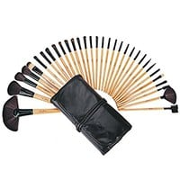 BeautyWill 32 Pieces Makeup Brushes Set Professional Kit for Faces Eyes Eyeshadow Eyeliner Foundation Blush Lip Bronzer With Bag