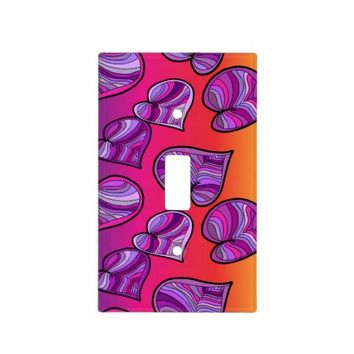 Colorful Hearts Light Switch Cover