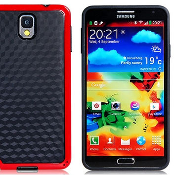 Rubber & Hard Plastic Case for Samsung Galaxy Note 3
