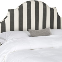 Hallmar Black & White Stripe Headboard Queen