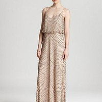 Adrianna Papell Beaded Dress - Long Blouson | Bloomingdale's