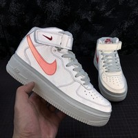 Nike Air Force 1 '07 MID AF1 White Red Reflective Fashion Shoes - Best Online Sale
