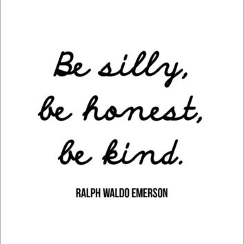 INSTANT DOWNLOAD Ralph Waldo Emerson literary quote printable life wisdom encouragement motivation inspiration gift friend silly honest kind