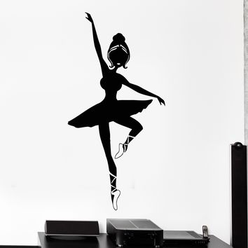Vinyl Wall Decal Ballet Dancer Dancing School Pointe Shoes Stickers Unique Gift (753ig)