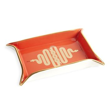 Jonathan Adler Snake Valet Tray - Orange