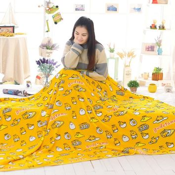 candice guo! plush toy cartoon gudetama lazy Egg yolk air-condition blanket nap blanket creative birthday gift 1pc