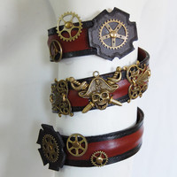 Steampunk Pirate Armlet Arm Band Cuff Leather Bracelet