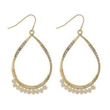 Teardrop Gold Earrings