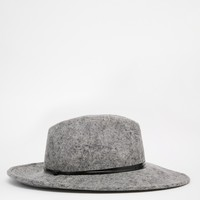 Catarzi Wide Brim Pom Fedora at asos.com
