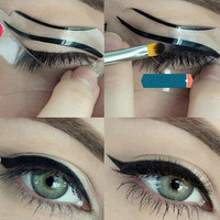 10Pcs Cat Eyeliner Stencil Template Top Bottom Liner Eye Card