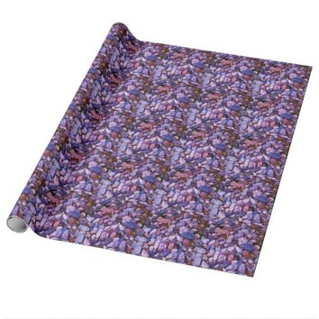Cool Colored Stones Wrapping Paper