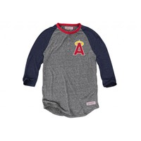 Hustle Play Henley California Angels - Mitchell & Ness