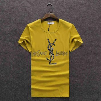 One-nice™ YSL Women Man Fashion Print Sport Shirt Top Tee