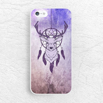 Purple Deer phone case for iPhone 6 5s 5c, Sony z1 z2 z3 compact, LG g3 nexus 5, HTC one M9, Moto x Moto g, dream catcher phone cover -P41
