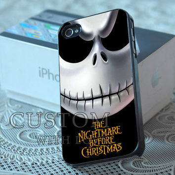 Nightmare Before Christmas Jake skellington - Rubber or Plastic Print Custom - iPhone 4/4s, 5 - Samsung S3 i9300, S4 i9500 - iPod 4, 5