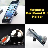 Magnetic support phone car holder stand voiture Mount Kit phone holder