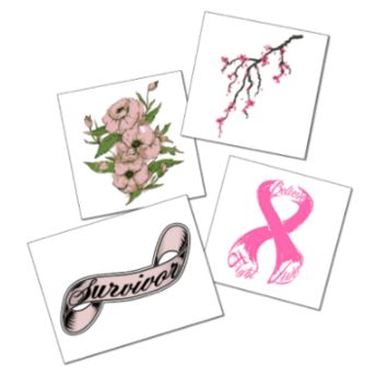 Breast Cancer Awareness Tattoo Set