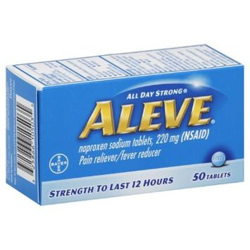 Aleve® 50-Count Pain Reliever/Fever Reducer Tablets