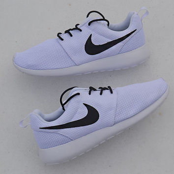 Nike Roshe Custom Painted Black & White Roshes