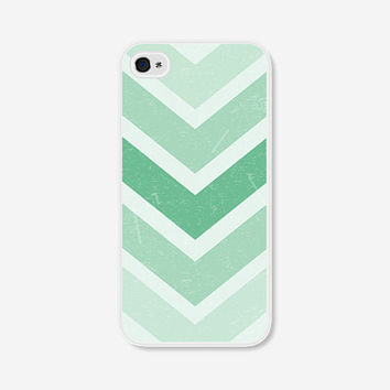 Geometric Phone Case - Mint Green Chevron Geometric iPhone 4 / 4s - 5 / 5s - 5c Case - iPhone 5c Case - iPhone 5 Case - iPhone 4s Case