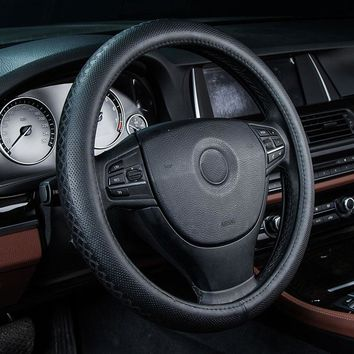 car steering wheels cover genuine leather accessories for Ford 500 Aerostar Aspire Bronco Bronco II Club Wagon Contour Crown